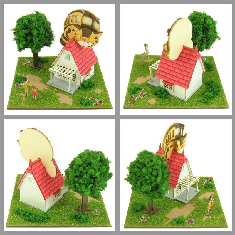 となりのトトロ スタジオジブリmini ◆紙模型(ペーパークラフト/キット) ◆インテリア小物、置物