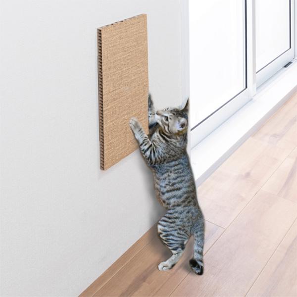 サンコー おくだけ吸着 吸着壁に貼れる猫のつめとぎ 麻 45×22cm/厚み20mm 日本製