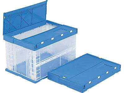 折りたたみ収納ボックス・収納ケースフタ付P75B <外寸>60×41×37.5cm