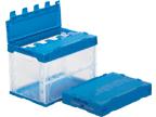 新色 箱 物入れ プラスチック 収納 ケース 保管 外寸 訳あり商品 配送容器 折りたたみ収納ボックス 収納ケースフタ付き60B 透明タイプ 53×36.6×39.7cm