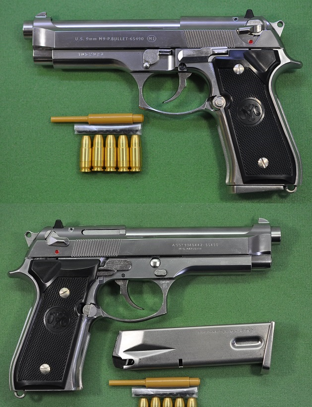 Marushin M9 Beretta ABS silver model completed