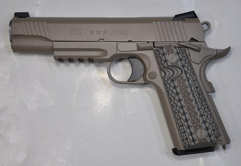 【カスタム完成品】COLT M45A1 G10グリップカスタム マルイ ガスブローバック ベース 32200