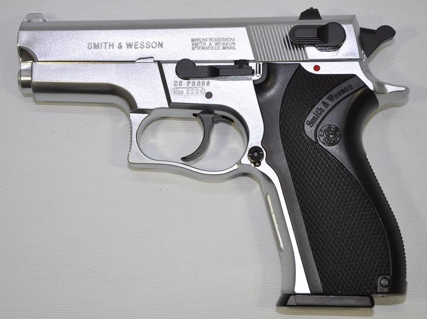 B.W.C. 固定スライドガスガン S&W M6904 6mmBB Silver 13000
