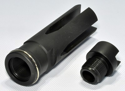 GUARDER Tokyo Marui electric G3/MC51 HK-53 conversion Flash Hider silencer adapter for 14 mm reverse threaded HK53-02