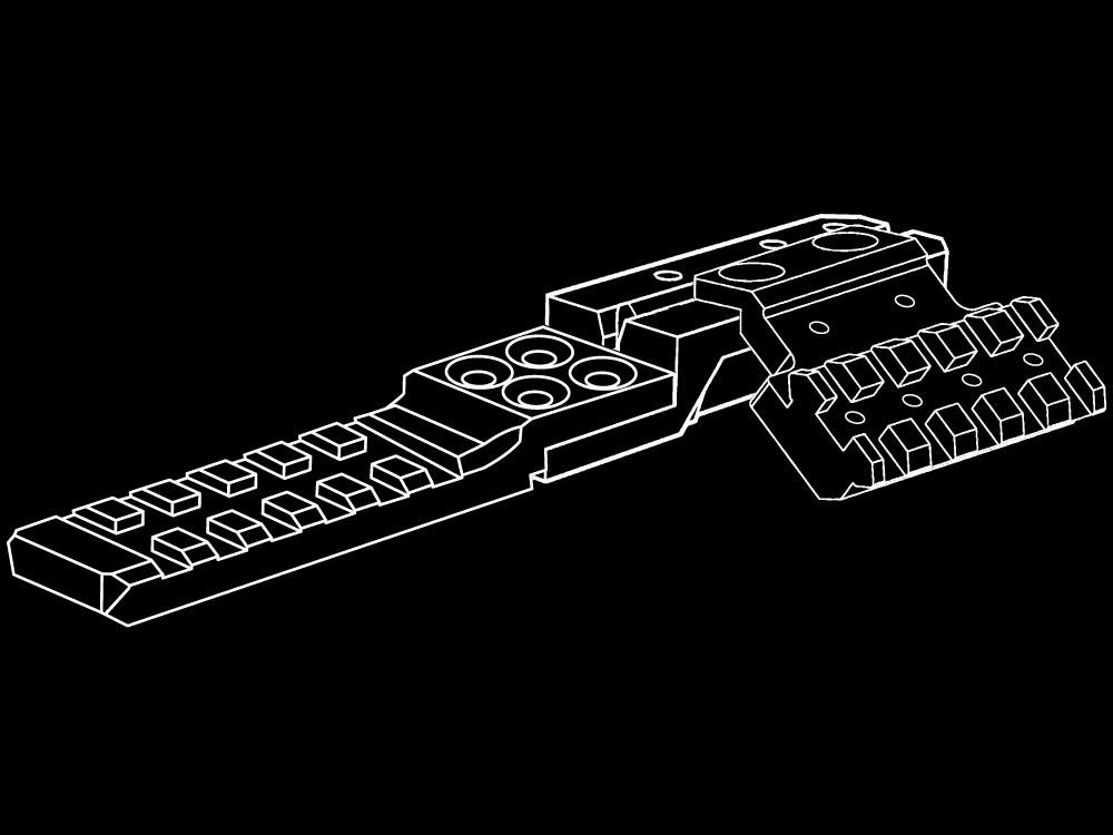 供STRIKE INDUSTRIES AK使用的後瞄準具軌道座騎Ver.2 MB-SI-AKRR2