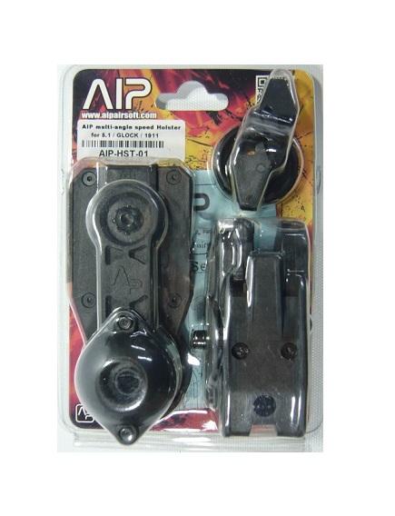 ふるさと割 エアガン モデルガン の専門店 AIP ホルスター マルチアングル Glock 日時指定 1911用 スピード レース AIP-HST-01H Hi-Cap5.1