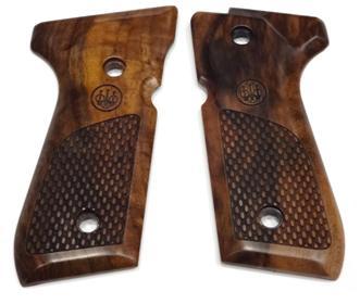 Beretta グリップ ベレッタM92FS用 実物M92Fシリーズ木製グリップ(レーザー) QQ_E00219-11000-WON