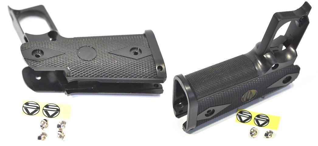 STI custom grip standard size Black for the WE Tokyo Marui Hi-CAPA series