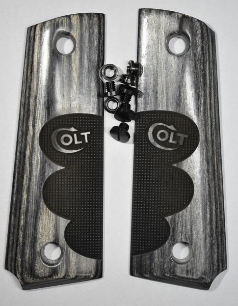 Altamont グリップ 薄厚タイプ M1911シリーズ フィンガーパターンチェッカ Black 14000