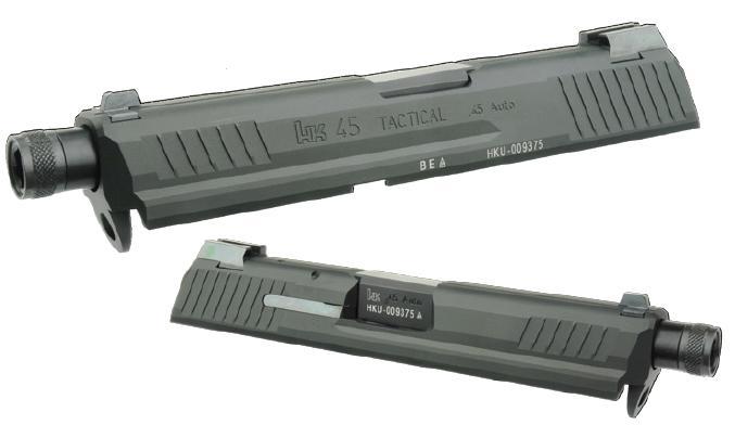 HK45 Tactical Black SL-HK04BK for DETONATOR slide set Tokyo Marui HK45