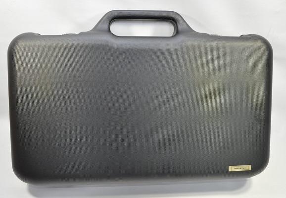 Negrini スタイリッシュ ハードガンケース イタリア製 ハンドガン用 ロック付 小 24000-WOFF