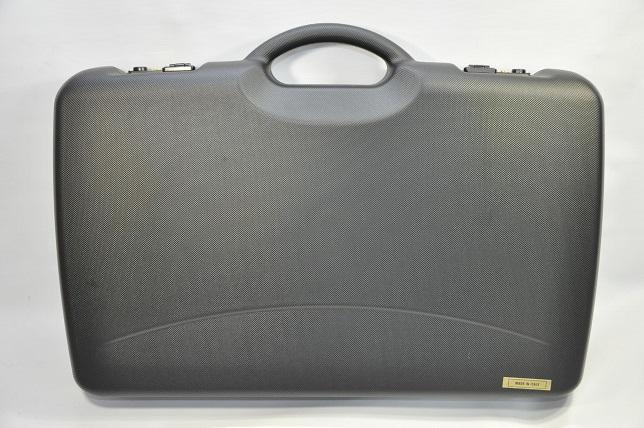 Negrini スタイリッシュ ハードガンケース イタリア製 ハンドガン用 ロック付 大 27000-WOF