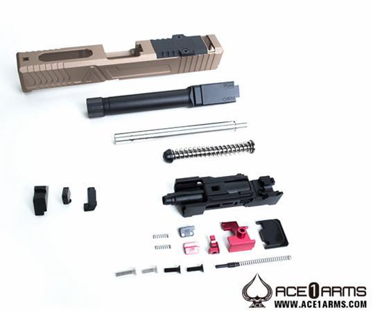 供Ace1 Arms放映裝置混合FDE WE/STARK Glock19使用的CNC鋁Black takutikarubareru式樣g-assg19h-dtb-28500-WOA