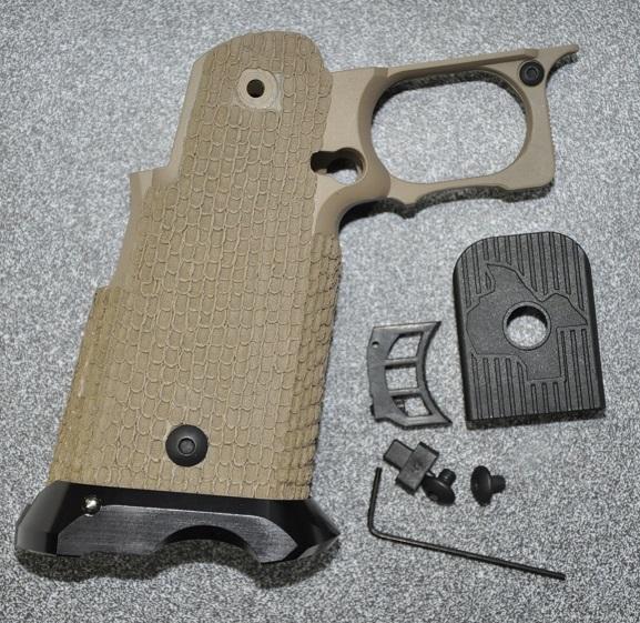 KSK グリップ FDEカラー STI COSTA CARRY COMPタイプ リダクション加工済み 東京マルイ Hi-CAPAシリーズ用 25200