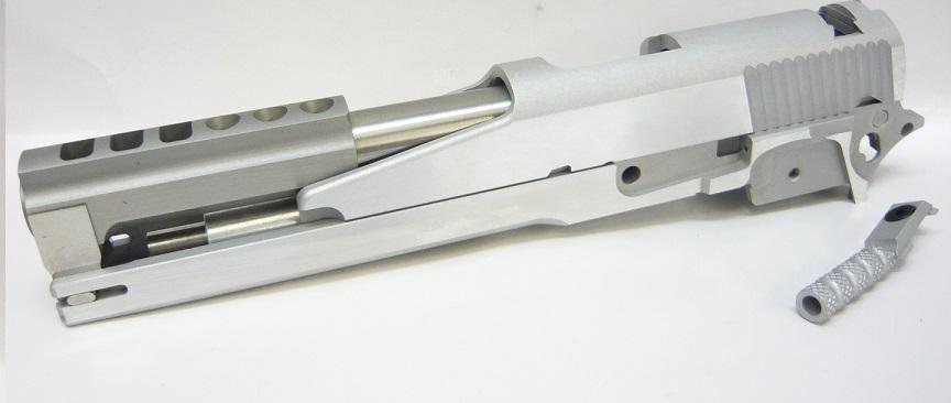 CP ドラゴン 6インチ シルバー STDセレーション オープン スライド/フレームセット マルイ Hi-Capa5.1用