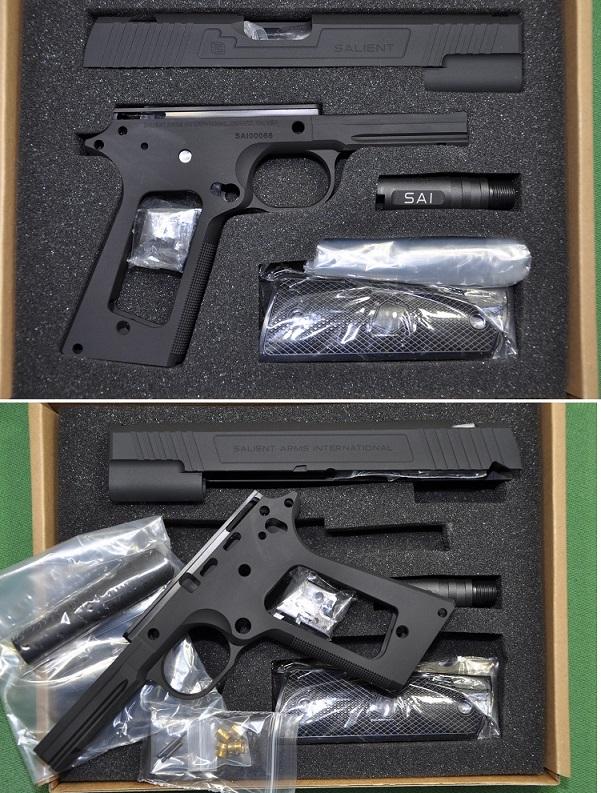 NOVA 丸 MEU 突出武器 1911年 5 英寸模型转换套件马特黑 TM GMK 036 BK 108,000