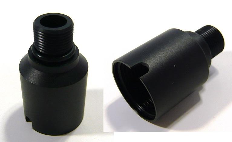 供Hephaestus消音器适配器GHK AK使用的铝#HE-GHK-011-3000