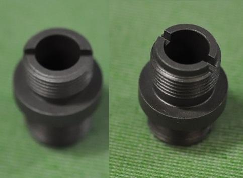 斯巴达人学说消声器适配器东京丸井电 MP5K PDW 为 14 毫米积极线程 & 14 毫米积极螺杆 SD-广告-08 C-1500