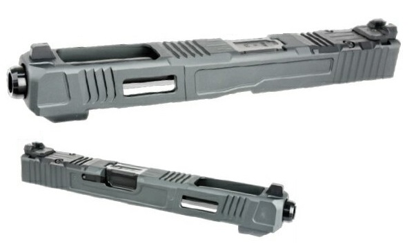 NOVA カスタムスライド FIG17 Gray&Blackバレル 東京マルイ Glockシリーズ用 Fowler Industriesタイプ アルミ NOVA-SL-FI-17-Black-45800
