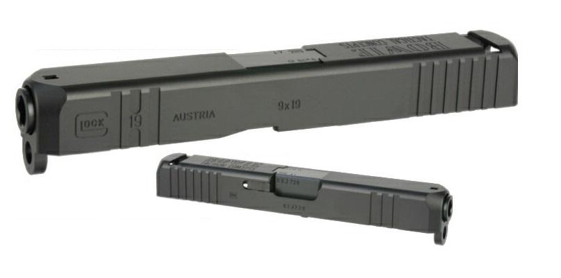 DETONATOR カスタムスライド KJワークス Glock19用B.T.C Black SL-KJ06BK 22000-WOEE