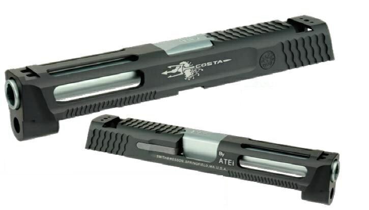 DETONATOR カスタムスライド 東京マルイS&W M&P9用 ATEi Costa Edition 4.25インチ Black SL-MP901BK