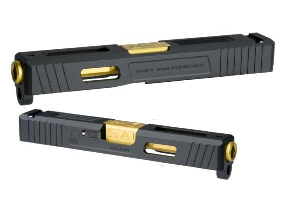 DETONATOR カスタムスライド SAI Tier1 東京マルイ Glock19用 Black SL-G1903BK