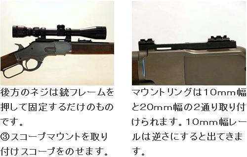 供KTW安裝基座WINCHESTER M1873空氣來復槍使用的KTW-M1873-3320