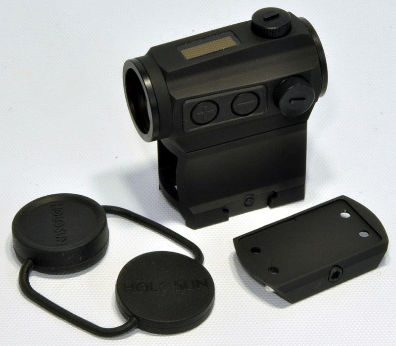 HOLOSUN ダットサイト T1タイプ 高強度 Red Dot Sight NV対応 ソーラー発電 ハイマウント ローマウント 付 HS403C-33000