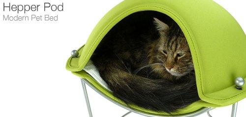 猫用ベッド Hepper Pod ヘッパー ポッド グリーン 【メーカー在庫限り】