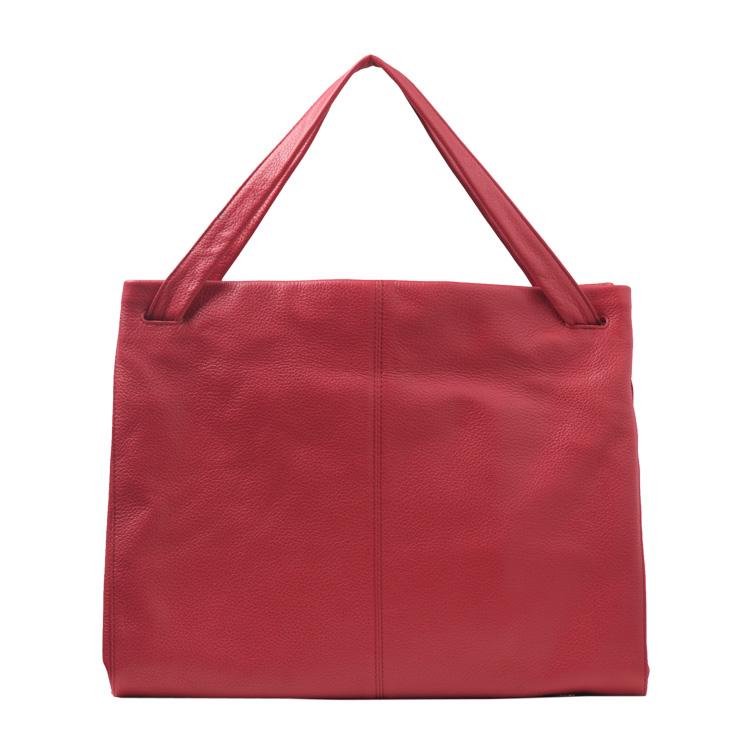Jamale ブランド 日本製 牛革 ハンドバッグ レディース 本革 天ファスナー型 a4 対応 普段使いからビジネス用まで使えるダークレッド 赤 ギフト ギフト