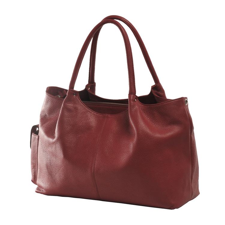 Jamale 日本製 牛革バッグ ハンドバッグ 2way レディース 本革 ダークレッド 赤ショルダーベルト付きで斜め掛けもOK A4サイズが入る使いやすい本革バッグ (No.7346)リアルレザー ギフト (No.7346-zz-dradr)