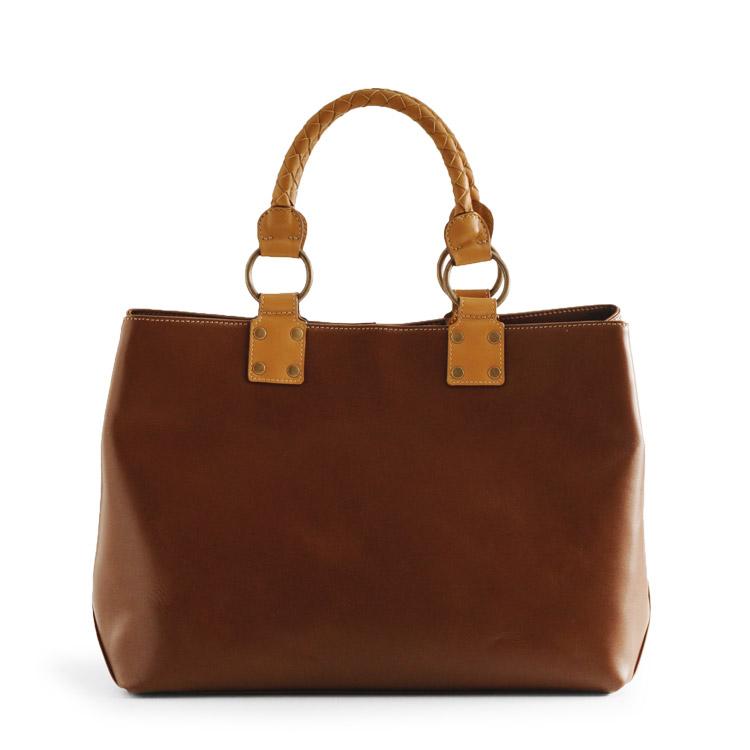 Jamale ブランド 日本製 トートバッグ レディース 本革 牛革 ブラウン 茶色 ギフト 丈夫で滑らかな牛革を使用した大きなサイズのレザーバッグです ギフト