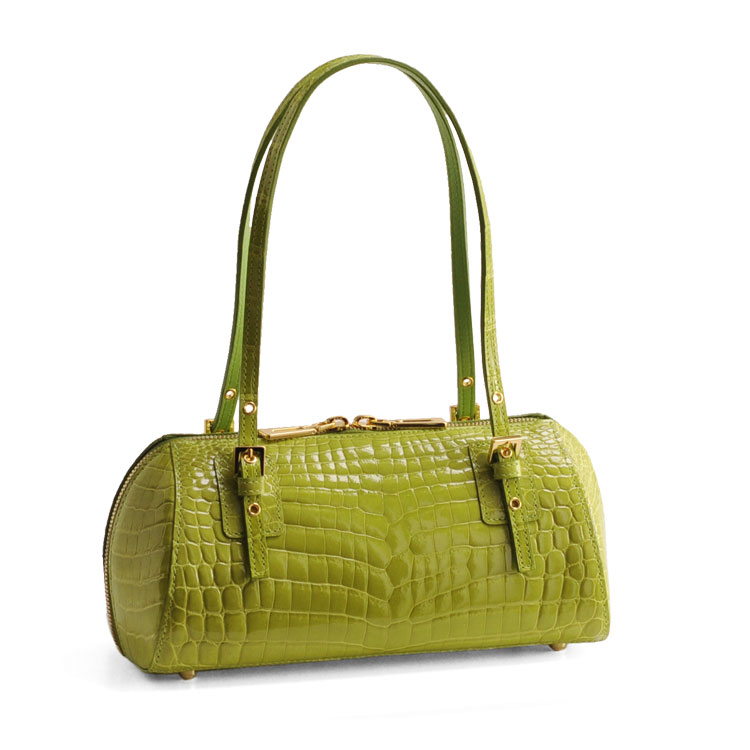 87376c51997a ... 緑 ヘンローン社製原皮使用艶めくクロコダイルをエレガントに持てる プレシャスレザーのハンドバッグ (No.06000 | 在庫 ライム  選択してください 【書く(クーポン ...