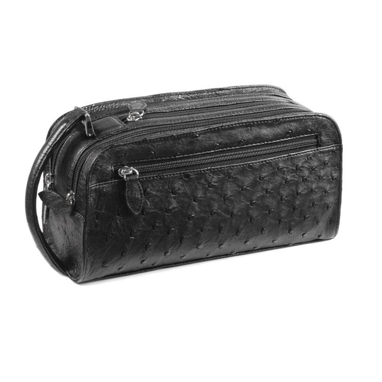 しっかりとした収納力の 個性を引き立てるオーストリッチバッグ セカンドバッグ ギフト オーストリッチ セカンド バッグ 黒 メンズ No.9955-zz-bl2r 紳士 Wファスナー ブラック 定価 高品質