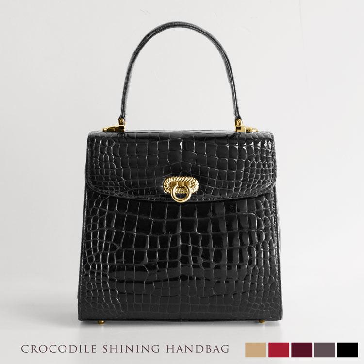 58a50047882b 日本製 クロコダイル ハンドバッグ シャイニング 加工 メンズ 長財布 ...
