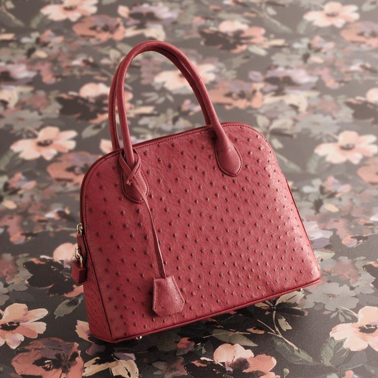 オーストリッチ ハンドバッグ フルポイント 2WAY 仕様 レディース 本革 バッグ 軽量 全11色 ギフト 母の日 プレゼント 花以外