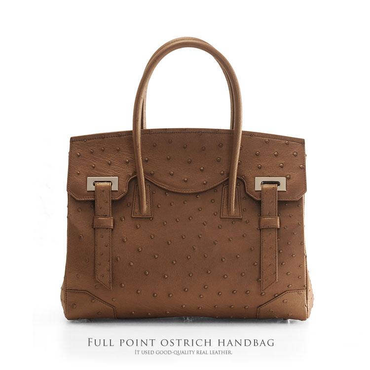 フルポイント オーストリッチ ハンドバッグ/レディース a4 対応 通勤バッグ A4 バッグ ハンドバッグ 女性 バッグ ビジネス 通勤 A4 女性 プレゼント ギフト (06000082r)