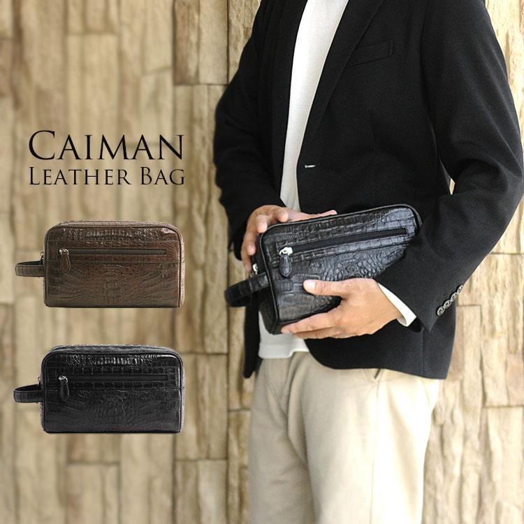 メンズ バッグ ギフト カイマンWファスナー メンズ セカンドバッグ プレゼント 男性 シンプル バッグ ビジネスバッグ カジュアル ギフト ワニ革 本革 プレゼント, キングダムタッチ:252b9e2b --- ferraridentalclinic.com.lb