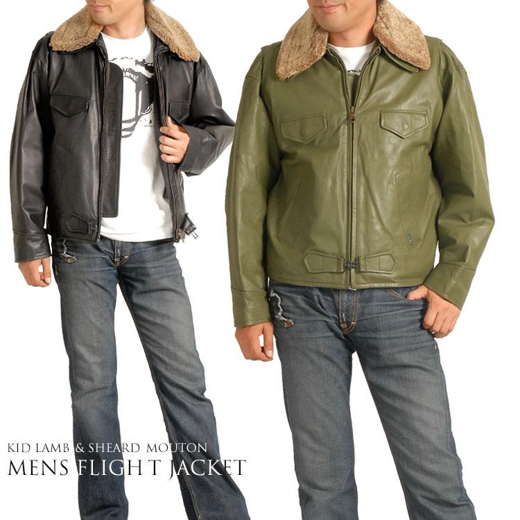 【クーポンでお買い得】キッドラム メンズ フライト ジャケット  レザー 本革 紳士 男性用 男 紳士 ギフト プレゼント