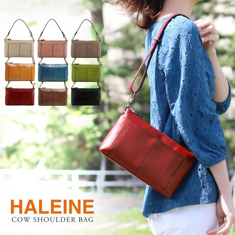 本革 バッグ レディース 2way 日本製 ブランド HALEINE ハンドバッグ ショルダーバッグ 女 ポシェット 母の日