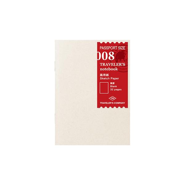 パスポートサイズのカスタマーズ手帳☆ TRAVELER'S notebook~☆トラベラーズノート パスポートサイズリフィル☆~ 008 un 14372-006 ミドリ 画用紙 購入 超人気 専門店