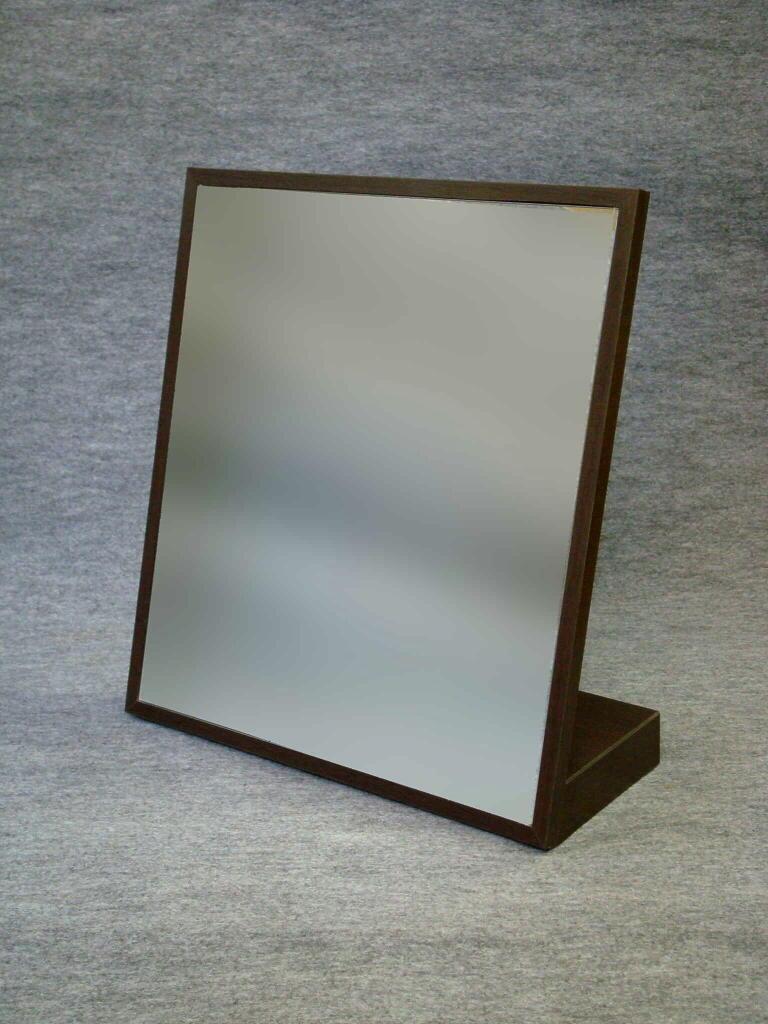 [送料無料] 日本製 大型卓上ミラー ダーク色