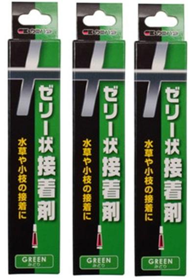 送料込み カミハタ 高品質 ゼリー状接着剤 緑 3本セット 安全
