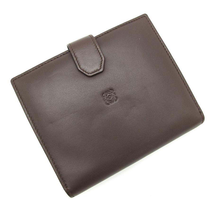【最大3万円OFFクーポン配布中】【送料無料】【中古】ロエベ 両面開き財布【Aランク】