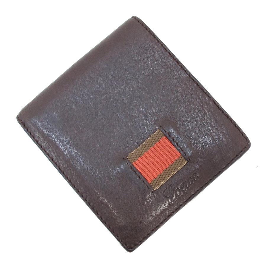 【送料無料】【中古】ロエベ 二つ折財布【Bランク】