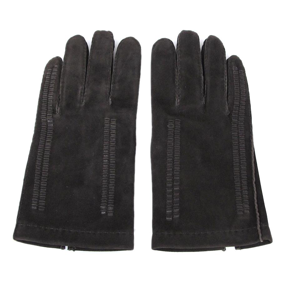 【中古】エルメス メンズレザー手袋 【Bランク】