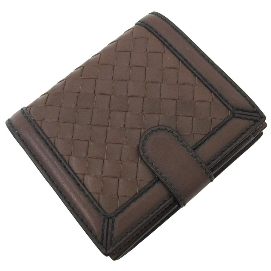 【送料無料】【中古】ボッテガヴェネタ 二つ折り財布 121059【Bランク】