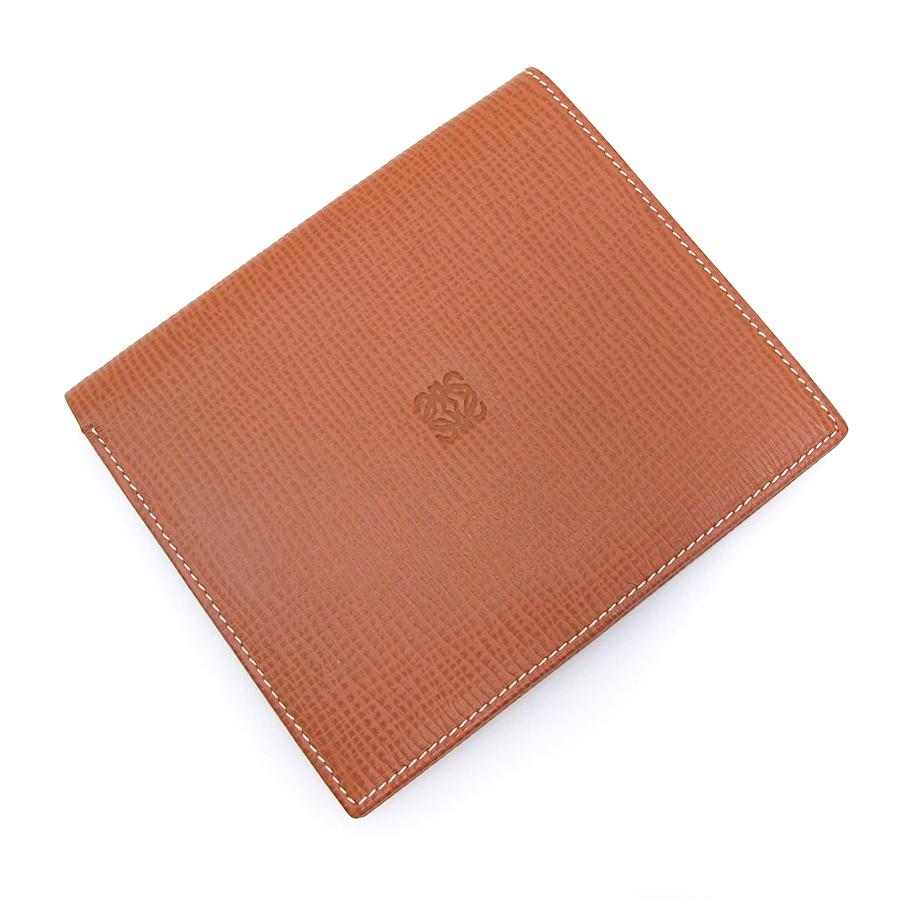 【送料無料】【中古】ロエベ 二つ折り札カード入れ 【Aランク】