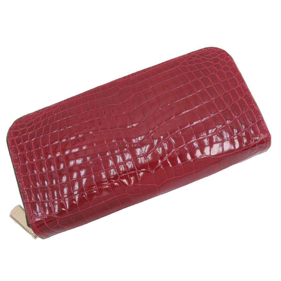【送料無料】【中古】高級皮革系 SEVITA・ラウンドファスナー長財布 【Sランク】