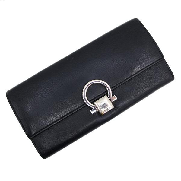 【送料無料】【中古】フェラガモ レザー長財布 【Bランク】